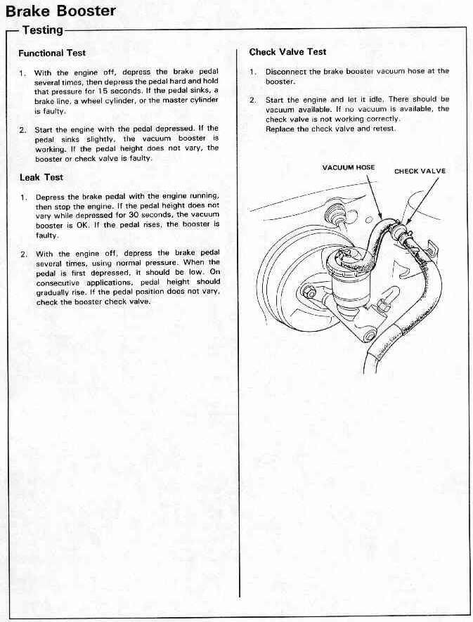 brake booster hiss - Honda-Tech - Honda Forum Discussion